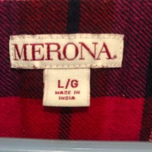 Merona Tops - Worn Once Merona Red Flannel Size Large